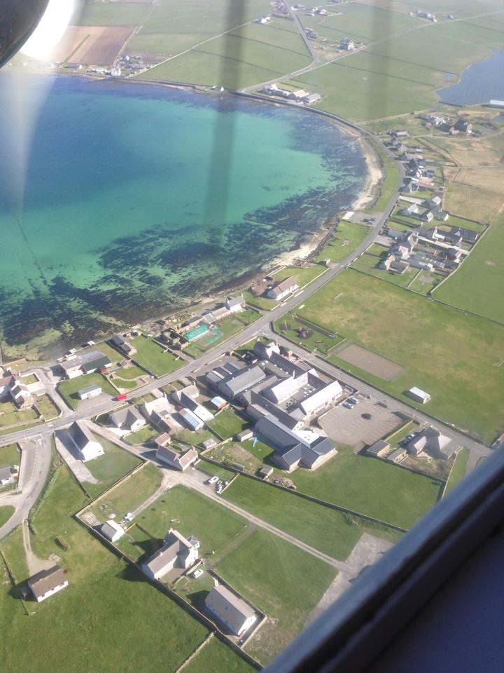 Westray from the air